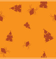 castle spider halloween pattern seamless color vector image