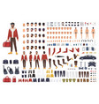 caucasian man creation set or diy kit collection vector image vector image