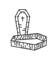 coffin icon doodle hand drawn or black outline vector image