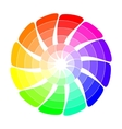 Color wheel from arrows vector image