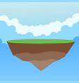 colorful fantasy flying island vector image vector image