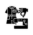 diy fashion black glyph icon vector image vector image