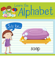 Flashcard letter S is for soap vector image vector image