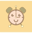 flat icon on background Kids toy alarm clock vector image
