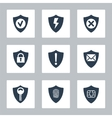 Flat security icons set vector image