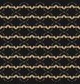 geometric seamless pattern in gold and black vector image