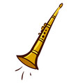 gold clarinet on white background vector image vector image