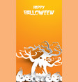 halloween background with haunted tree and vector image vector image