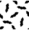 Hand drawn doodle Halloween bat Black pen objects vector image vector image