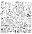 Hand drawn sketch elements set vector image vector image