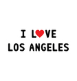 I lOVE LOS ANGELES1 vector image