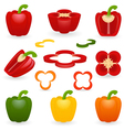 Icon Set Pepper vector image