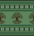 knitted woolen seamless ornament with the celtic vector image vector image