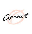 label print lettering apricot vector image vector image