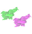 map of slovenia vector image vector image