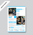 modern business flyer template vector image vector image