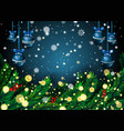 new year background with fir branches and vector image vector image