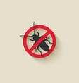 old house borer silhouette pest icon stop sign vector image vector image