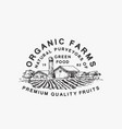 organic farms green food abstract sign vector image vector image