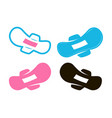 pantyliner female pad with wings icon women vector image