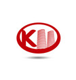 real estate logo template letter k logo vector image vector image