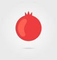 red pomegranate icon with shadow vector image vector image