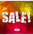 Sale Cut Paper Poster on bright background vector image vector image