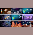 scenes space backgrounds vector image