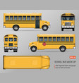 school bus mockup vector image