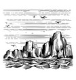 sea cliffs and seagulls landscape vector image vector image