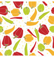 seamless pattern background with vegetables vector image