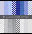 seamless striped patterns vector image vector image