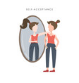 self acceptance young vector image