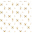 snowflake seamless white and gold winter vector image