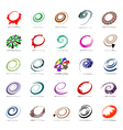 Spiral and rotation design elements vector image vector image