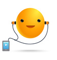 Sun Smile Music Player vector image vector image