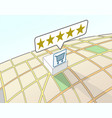 supermarket top user rating vector image