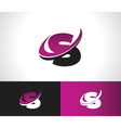 Swoosh Alphabet Icon S vector image