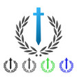 sword honor embleme flat gradient icon vector image vector image