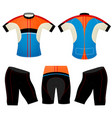 t-shirt cycling vest colors vector image vector image