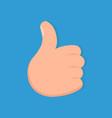 thumb up icon like symbol vector image
