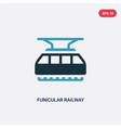 two color funicular railway icon from vector image
