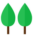 two simple trees emblem vector image vector image