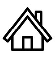 wood house icon outline style vector image vector image