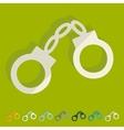 Flat design handcuffs vector image