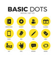 social flat icons set vector image
