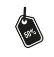 50 percent tag icon flat design vector image vector image