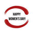 8 march happy woman s day and lipstick red vector image vector image