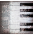 abstract grunge gray music background with piano vector image vector image