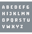 Alphabet in paper style vector image vector image